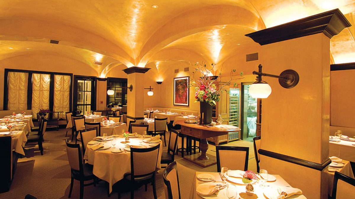 The dining room at Cyrus restaurant in San Francisco.